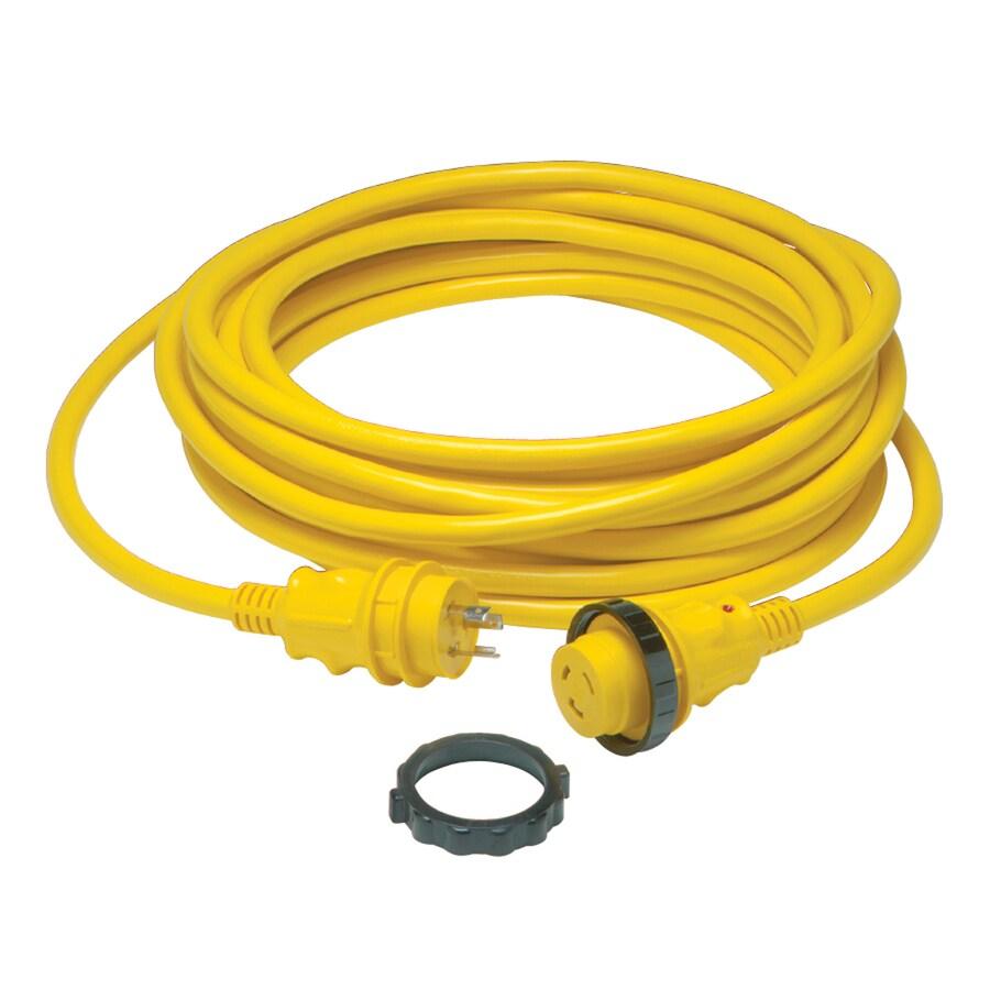 Gardner Bender 50-ft 30-Amp 10-Gauge Yellow Outdoor Extension Cord