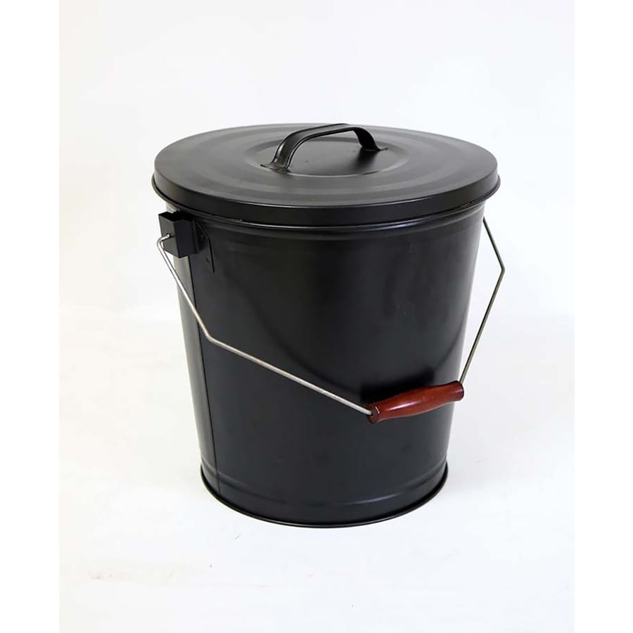Style Selections Black/powder coated Steel Ash Bucket
