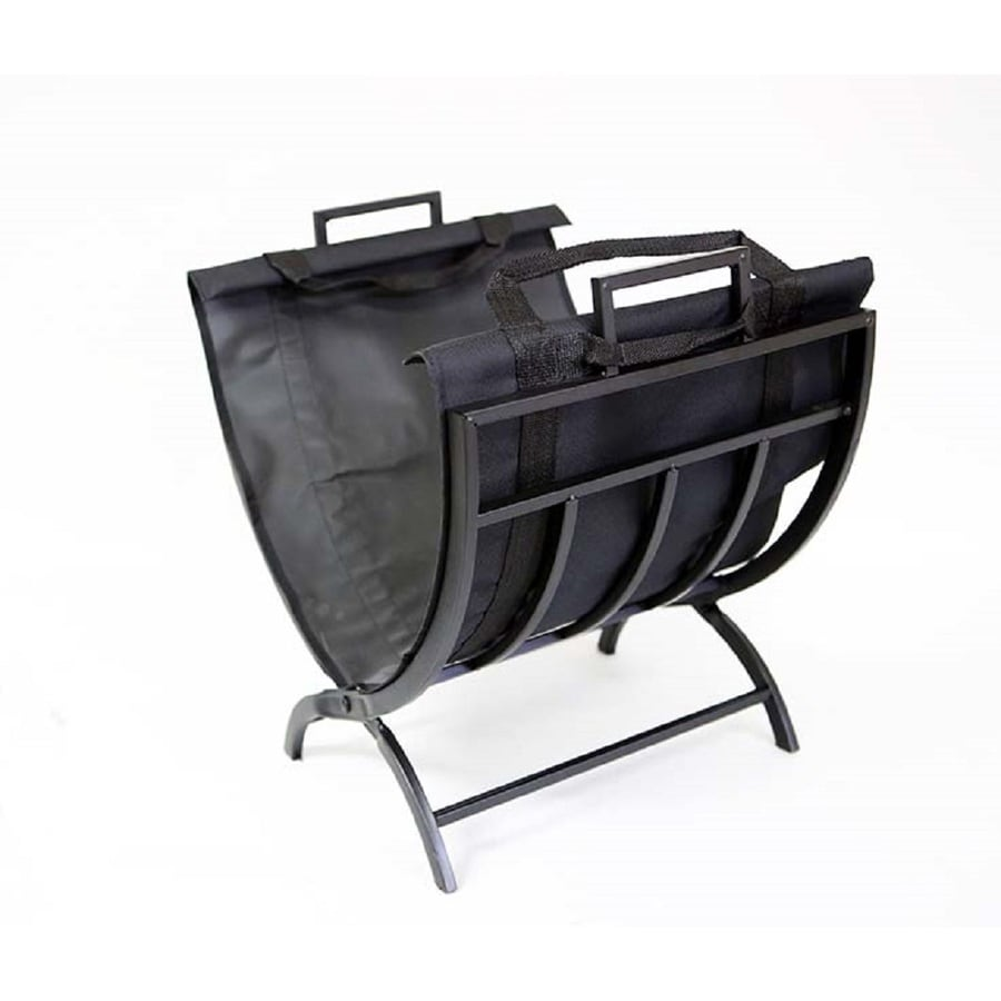 Style Selections 17.51-in x 18.11-in x 14-in Steel Log Tote