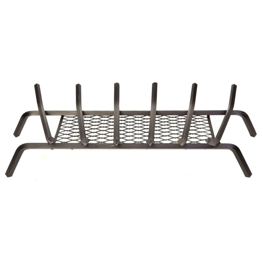 1/2-in Steel 30-in 6-Bar Fireplace Grate with Ember Retainer