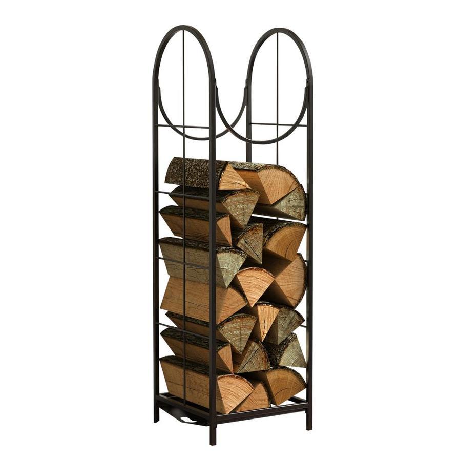 Vertical Log Rack Black In The Firewood Racks Department At Lowes Com