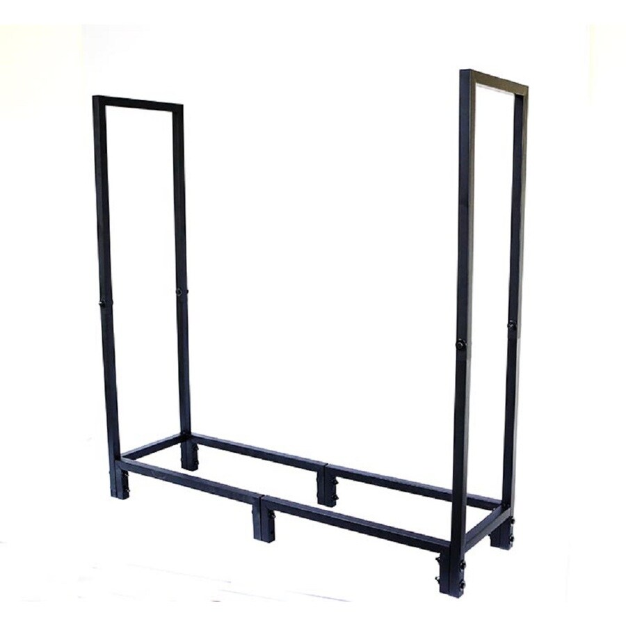 Style Selections 49-in x 48-in x 13.5-in Steel Quarter Cord Firewood Rack