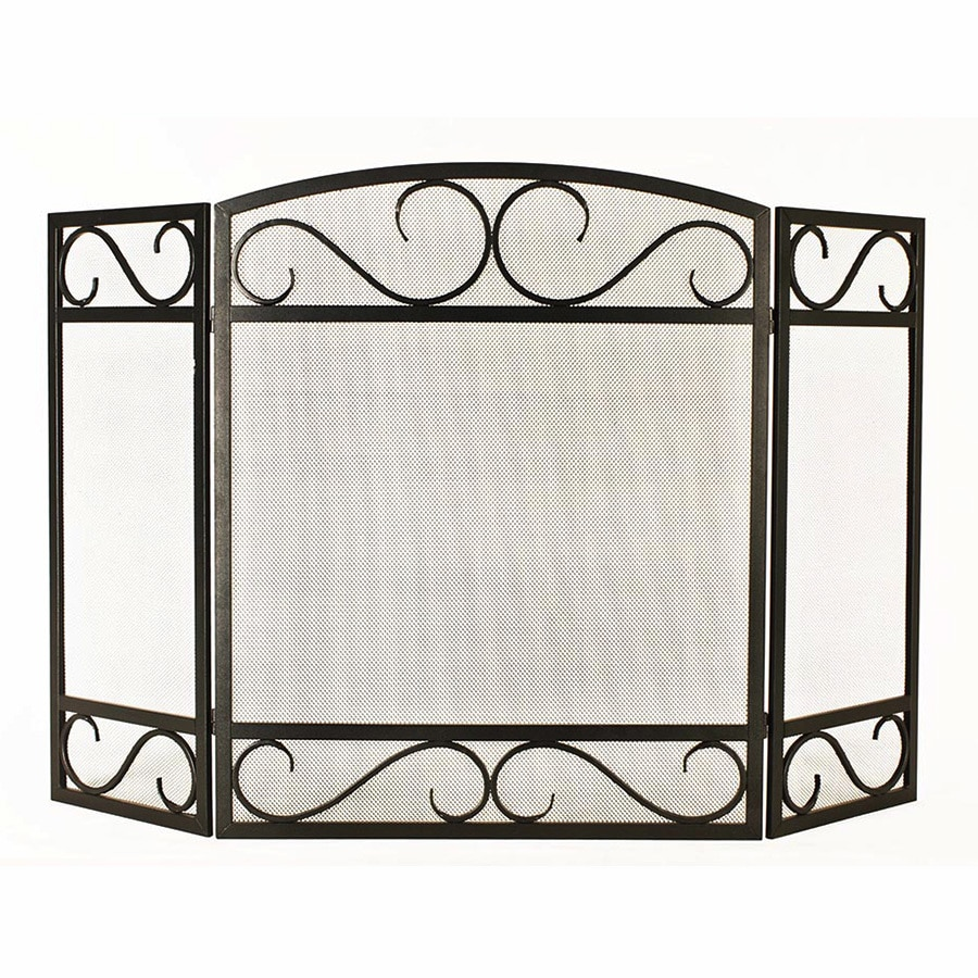 Display Reviews For 50 15 In Black Powder Coated Steel 3 Panel Scroll Fireplace