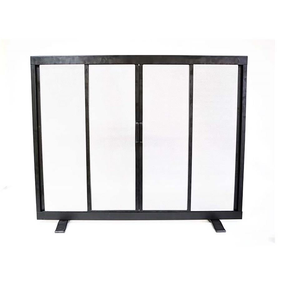shop fireplace screens at lowescom - style selections in black powder coated steel flat twin fireplacescreen