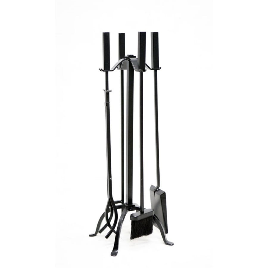 shop style selections 5 piece steel fireplace tool set at lowes com