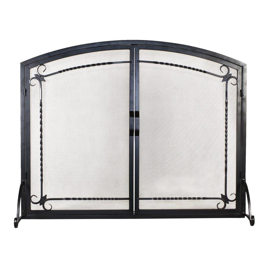 Shop Flat Panel Screen With Doors Black At Lowes