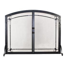 Flat Panel Screen With Doors Black