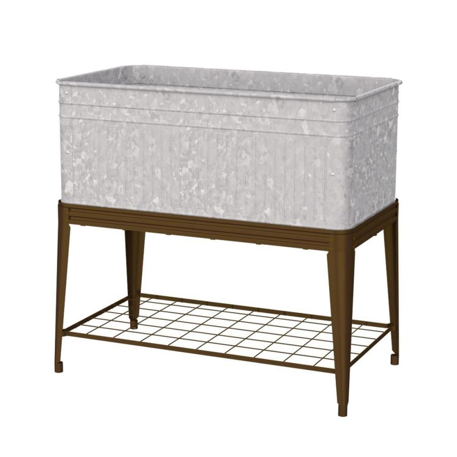 26 In W X 36 In H Rust Metal Rustic Raised Planter Box At Lowes Com