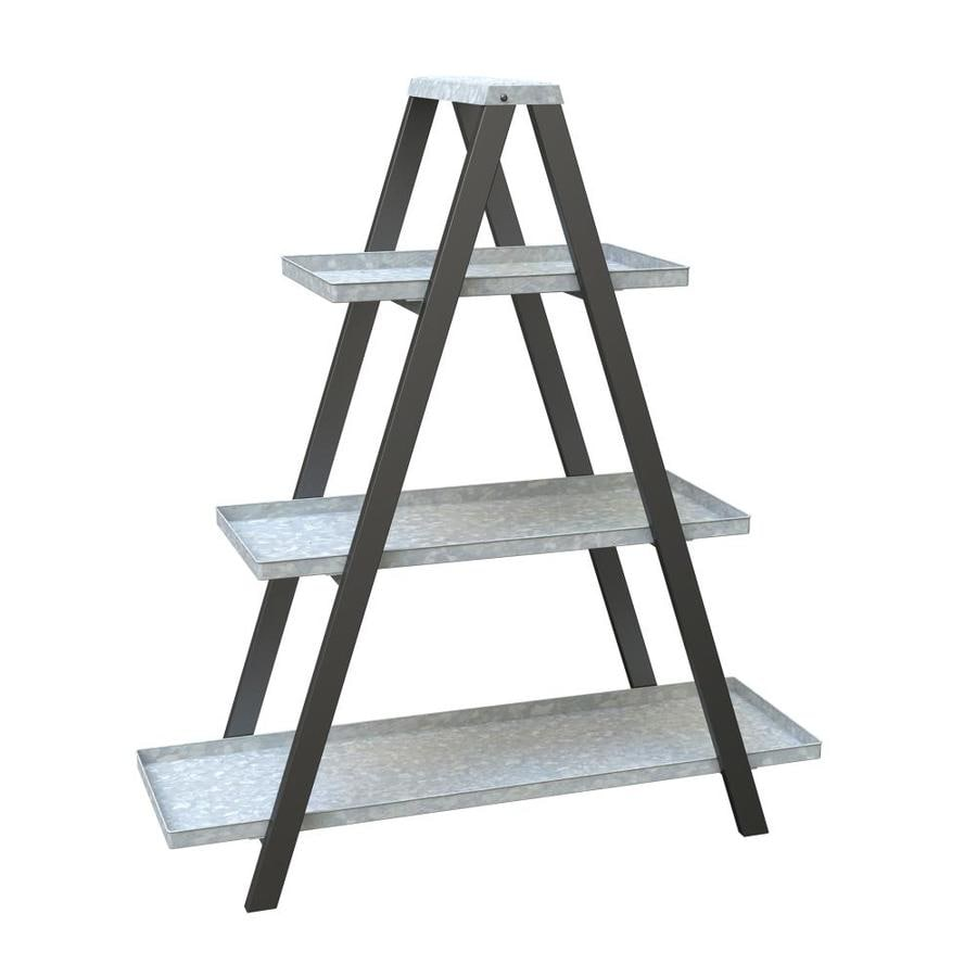 Shop Vintage A-Frame Ladder Plant Stand with Galvanized Shelves at ...