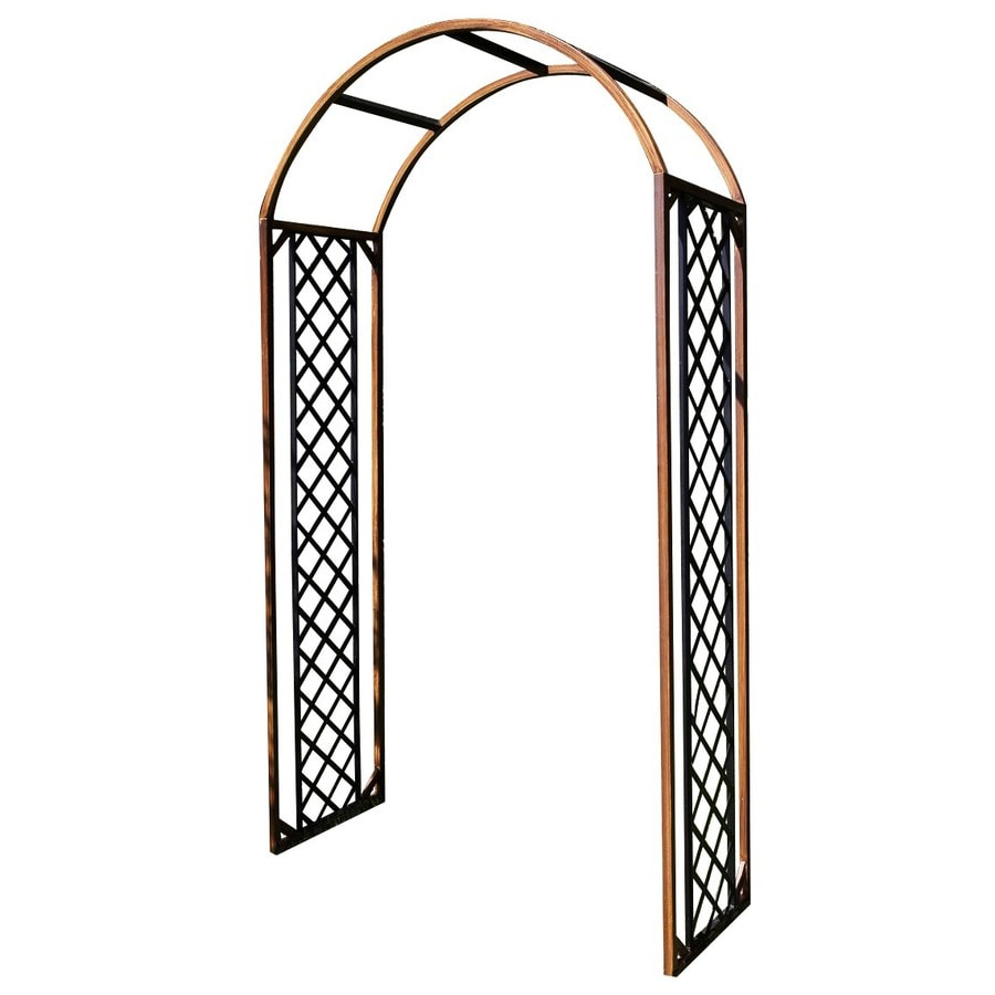 Garden Treasures 48-in W x 90-in H Wood Grain Mixed Metal Garden Arbor