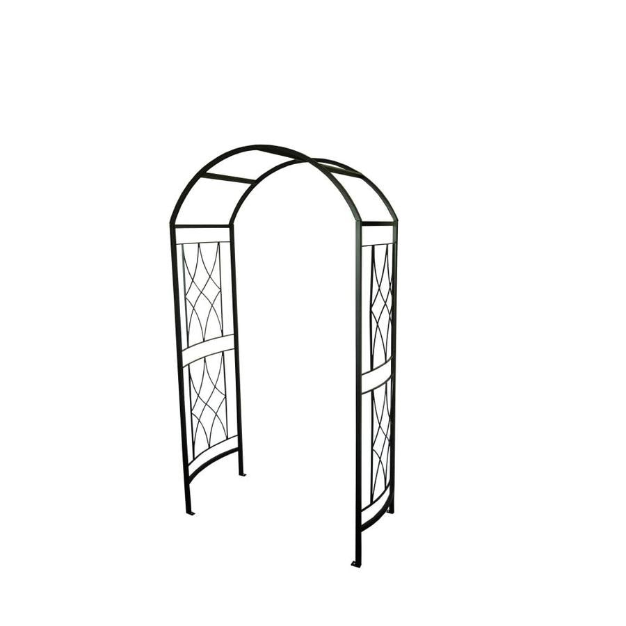 Garden Treasures 4.32 Ft W X 7.5 Ft H Black Garden Arbor