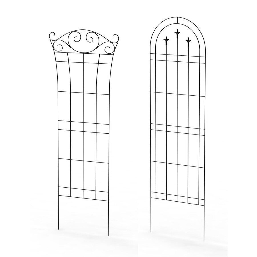 Shop Garden Accents 20 in W x 72 in H Black Garden Trellis at Lowes