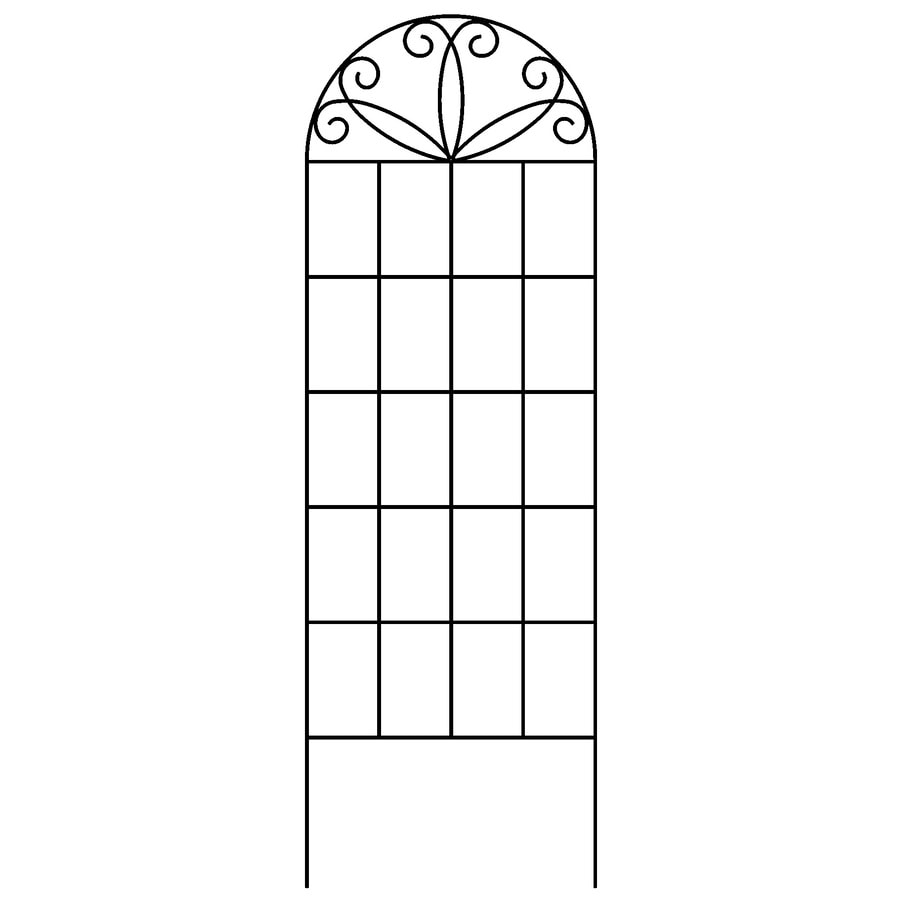 Shop Garden Accents 20 in W x 60 in H Black Scroll Garden Trellis at