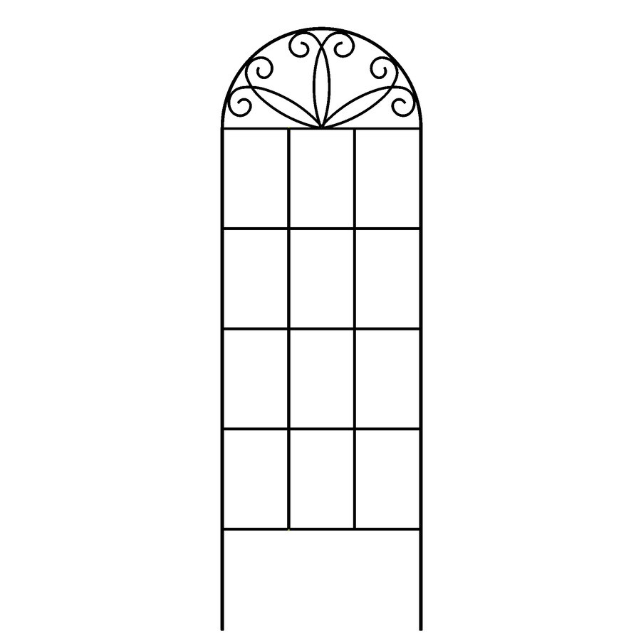 Shop Garden Accents 12 in W x 36 in H Black Scroll Garden Trellis at