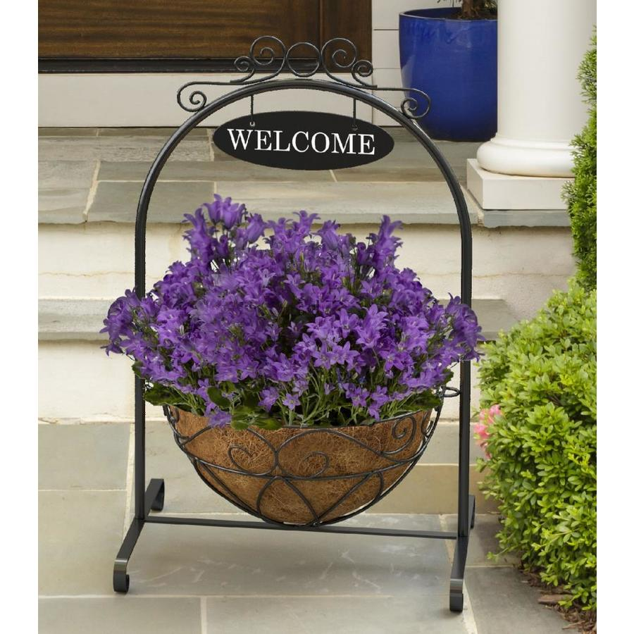 40 In Black Indoor Outdoor Round Steel Plant Stand At