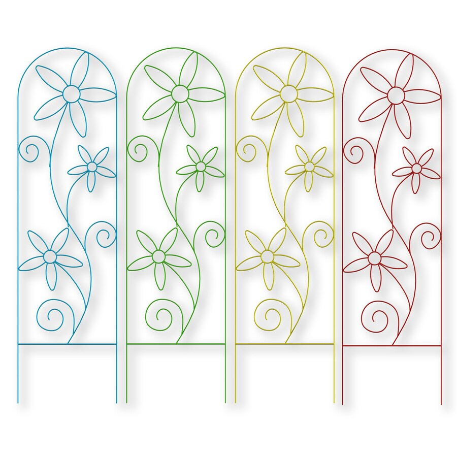 Shop Garden Treasures Trellis 20 in W x 72 in H Painted Daisy Garden