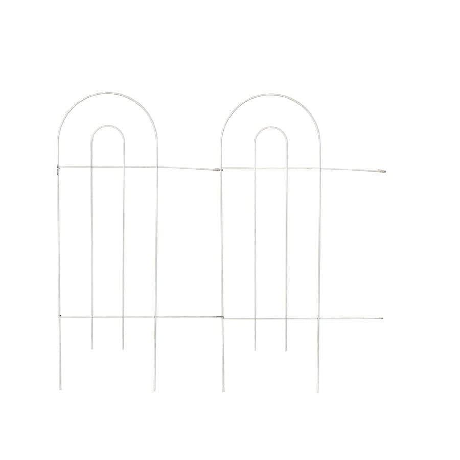 Garden Treasures White Steel Garden Fencing (Actual: 32 In)