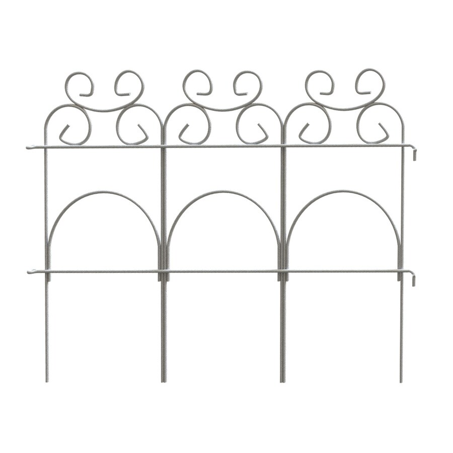 Garden Accents (Common: 1-in x 19.1-in x 14-in; Actual: 0.2-in x 96-in x 14-in) Fence 10-Pack White Metal