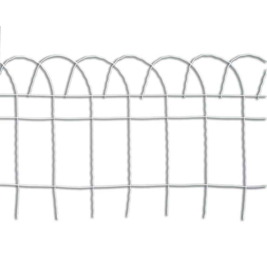 Garden Accents Rolling Fence White Steel Welded Wire (Common: 20-ft x 1.17-ft; Actual: 20-ft x 1.17-ft)