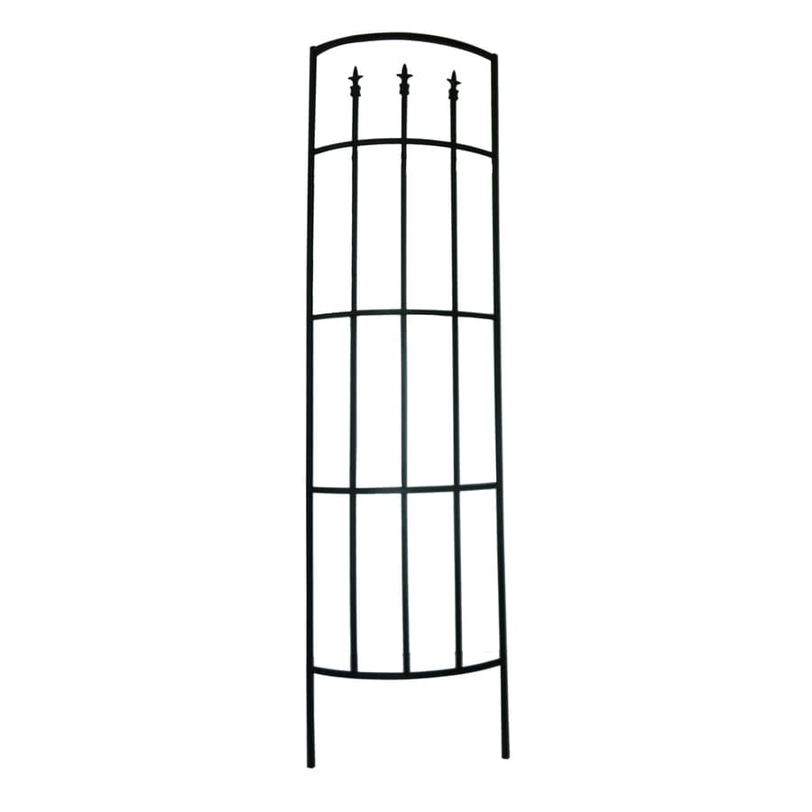 Shop Garden Accents 22 in W x 80 in H Black Garden Trellis at Lowes