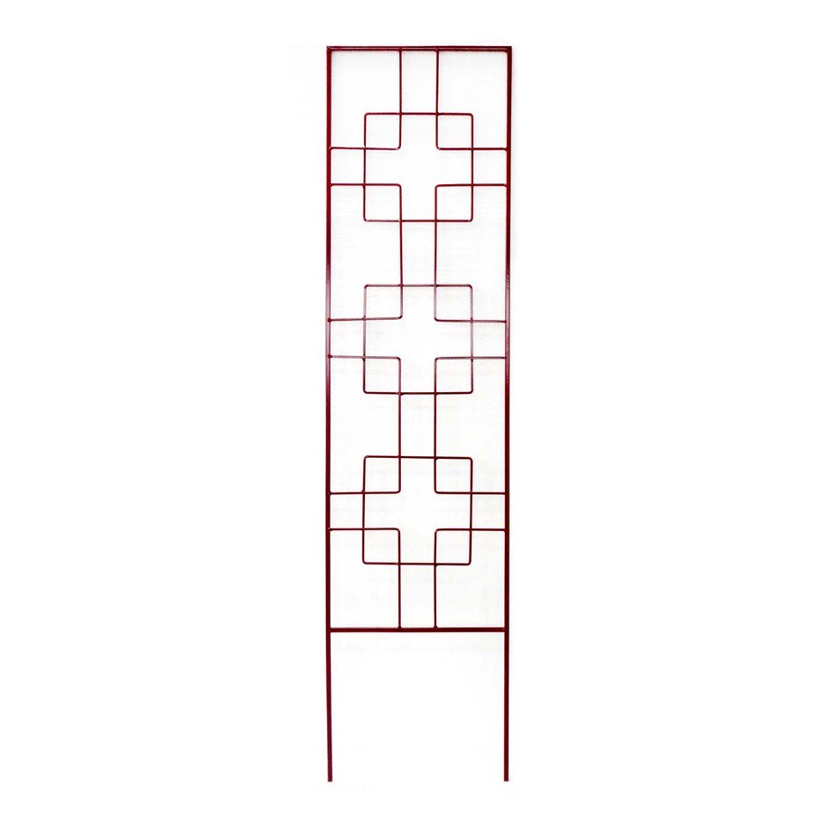 Shop Garden Treasures 12 in W x 48 in H Red Zen Garden Trellis at