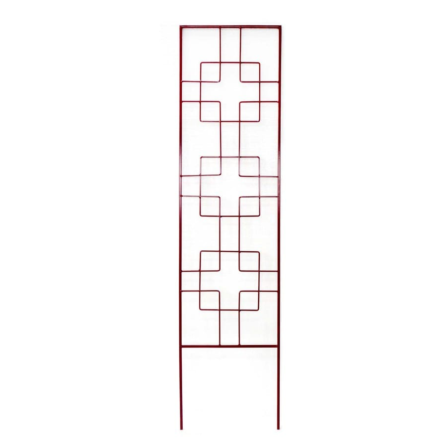 Garden Treasures 24-in W x 72-in H Red Garden Trellis