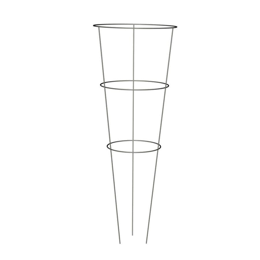 Shop 33-in Galvanized Steel Wire Round Tomato Cage at Lowes.com