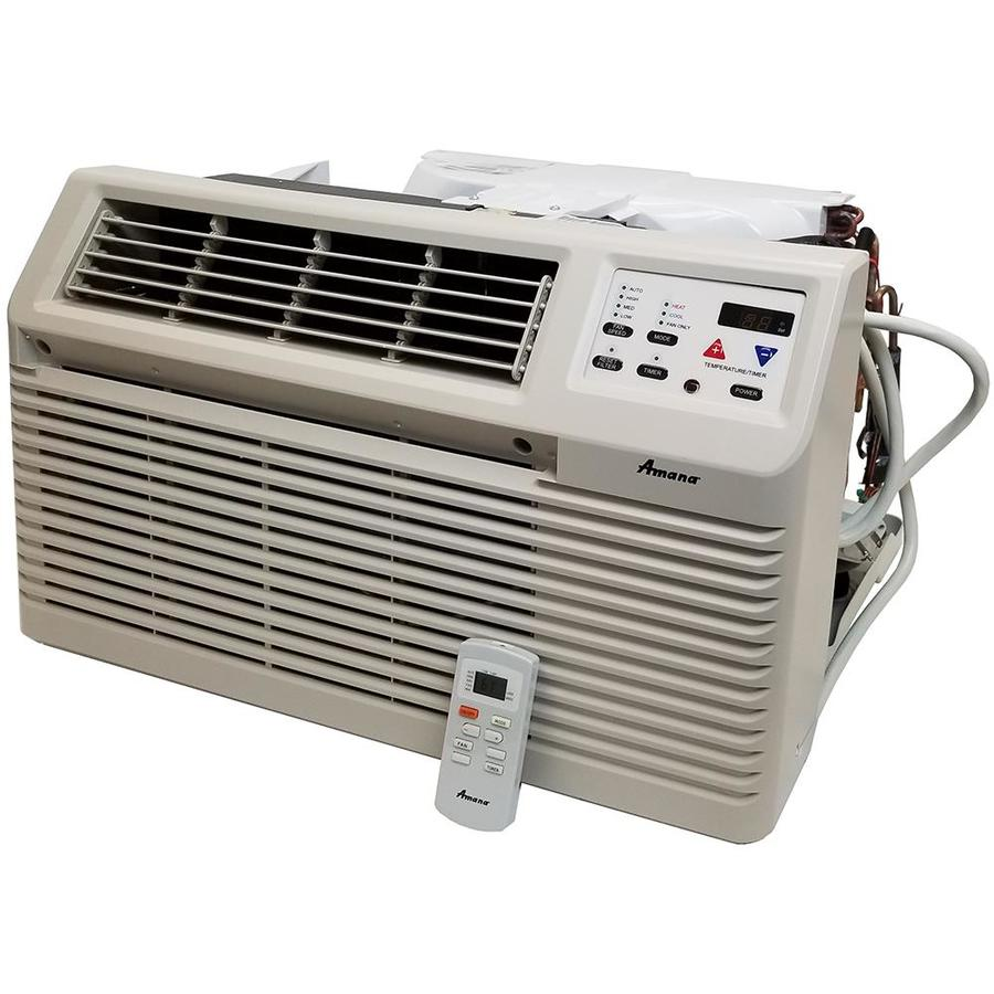 Btu 525 sq ft 230 volt wall air conditioner with heater at lowes com
