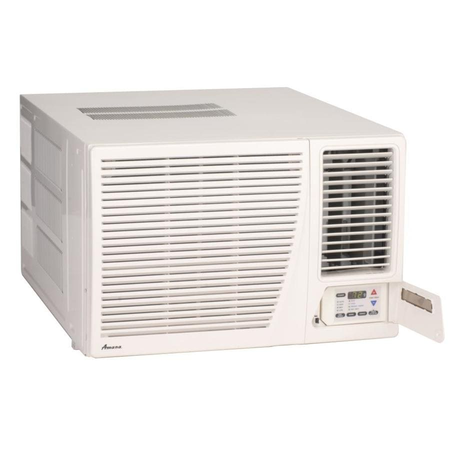Shop amana 17300 btu 750 sq ft 230 volt window air for Window unit with heat