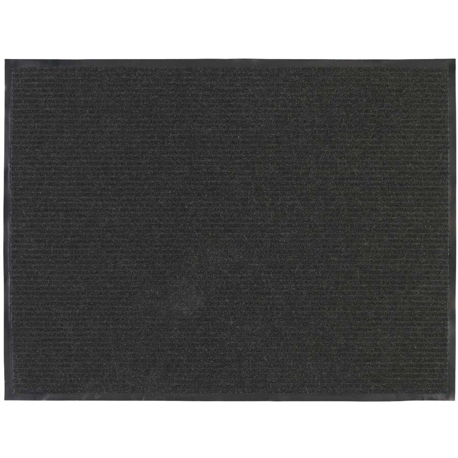 Blue Hawk Charcoal Rectangular Door Mat (Common: 48-in x 72-in; Actual: 48-in x 72-in)