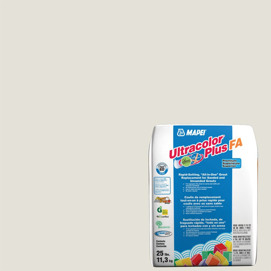MAPEI Ultracolor Plus FA 25-lb White Sanded/Unsanded Powder Grout