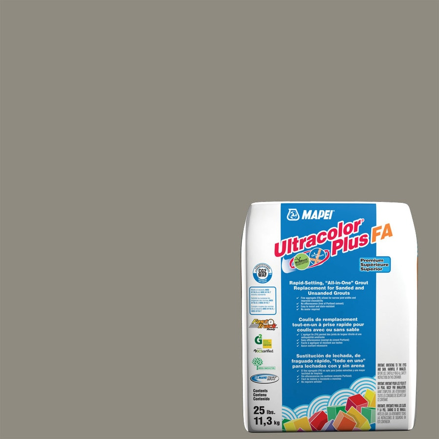 MAPEI Ultracolor Plus FA 25-lb Pewter Sanded/Unsanded Powder Grout