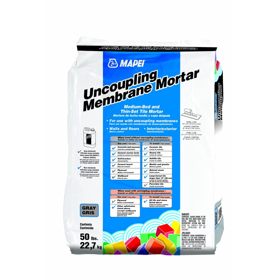 MAPEI Uncoupling Membrane 50-lb Gray Powder Medium Bed