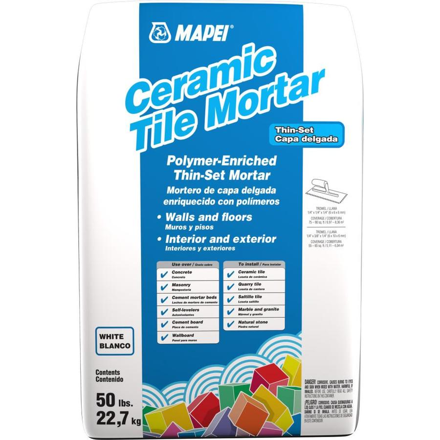 MAPEI Ceramic 50-lb White Powder Thinset Mortar