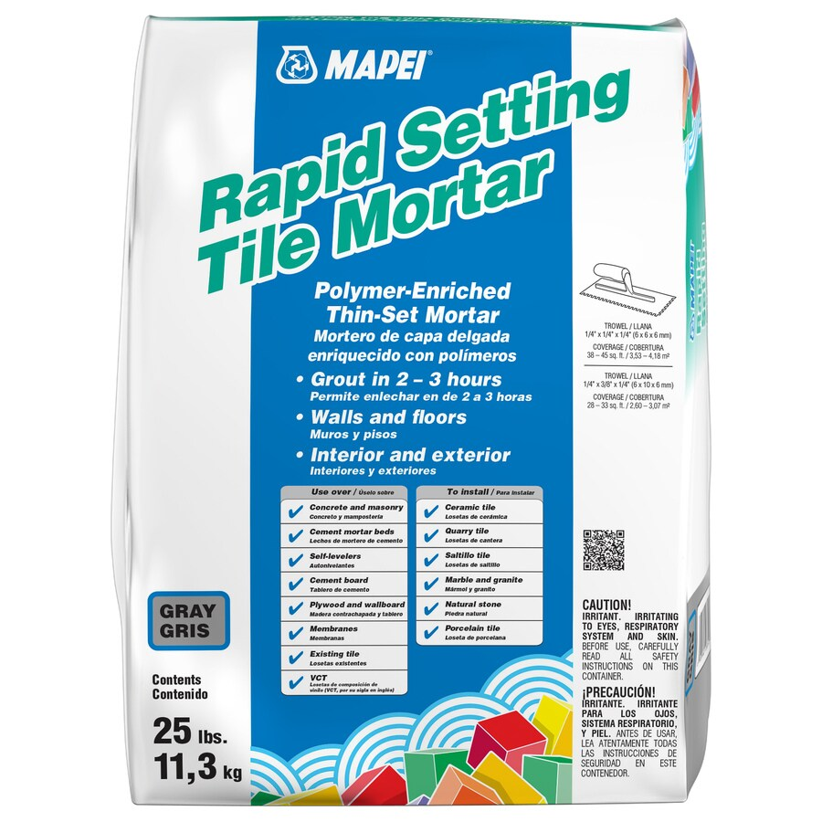 MAPEI Rapid Setting 25-lb Gray Powder Thinset Mortar
