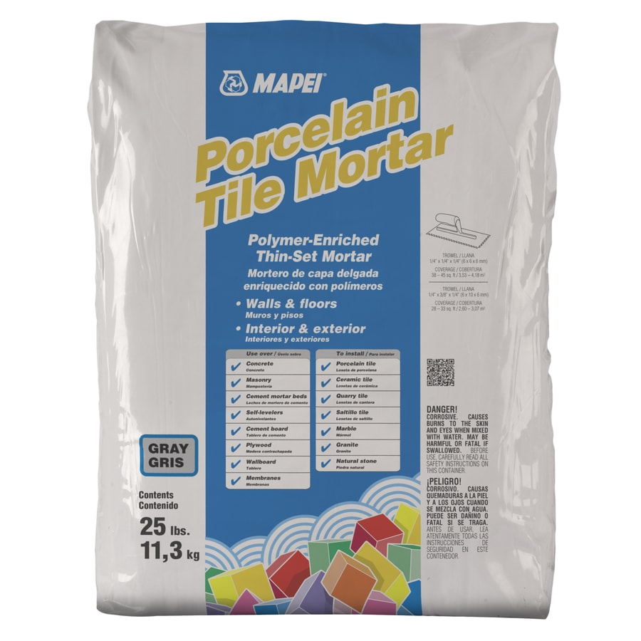 MAPEI Porcelain 25-lb Gray Powder Thinset Mortar