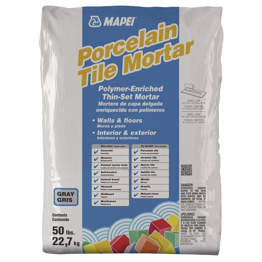 Shop MAPEI Porcelain Lb Gray Powder Thinset Mortar At Lowescom - Best thinset for ceramic tile