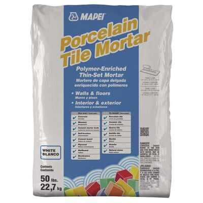 MAPEI Porcelain 50-lb White Powder Thinset Mortar at Lowes com