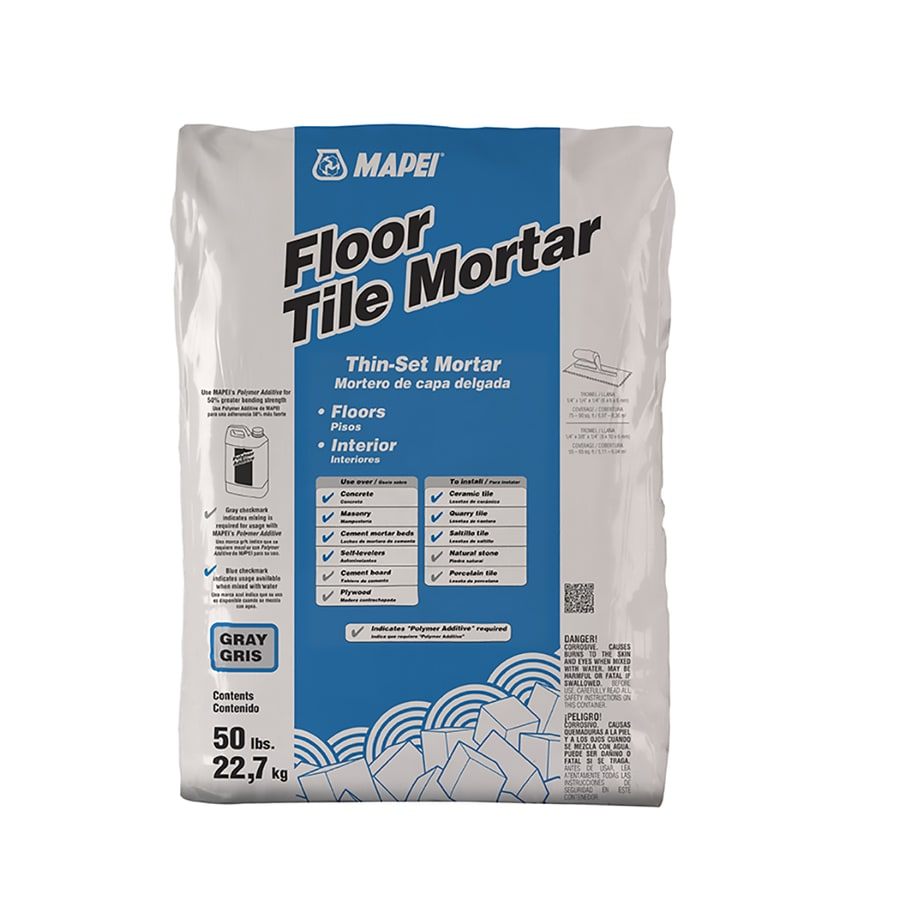 MAPEI Floor Tile 50-lb Gray Powder Thinset Mortar