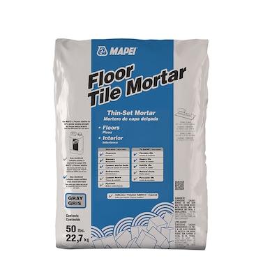 MAPEI Floor Tile 50-lb Gray Powder Thinset Mortar at Lowes com