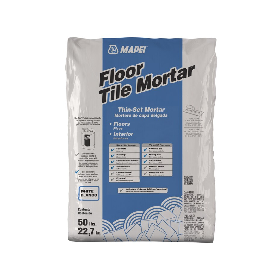 MAPEI Floor Tile 50-lb White Powder Thinset Mortar