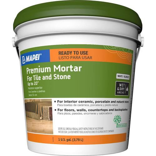 MAPEI Premium Mortar Ceramic Tile Mastic (1-Gallon) in the