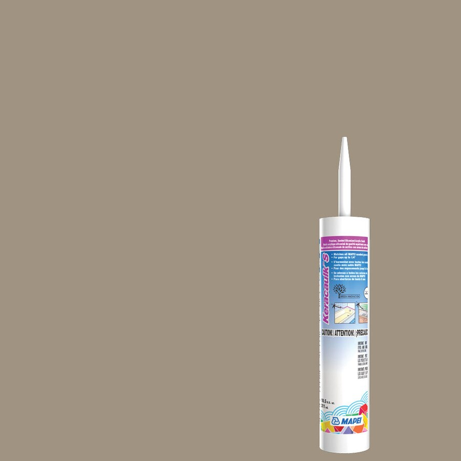 MAPEI Keracaulk S 10.5-oz Driftwood Sanded Paintable Siliconized Acrylic Specialty Caulk