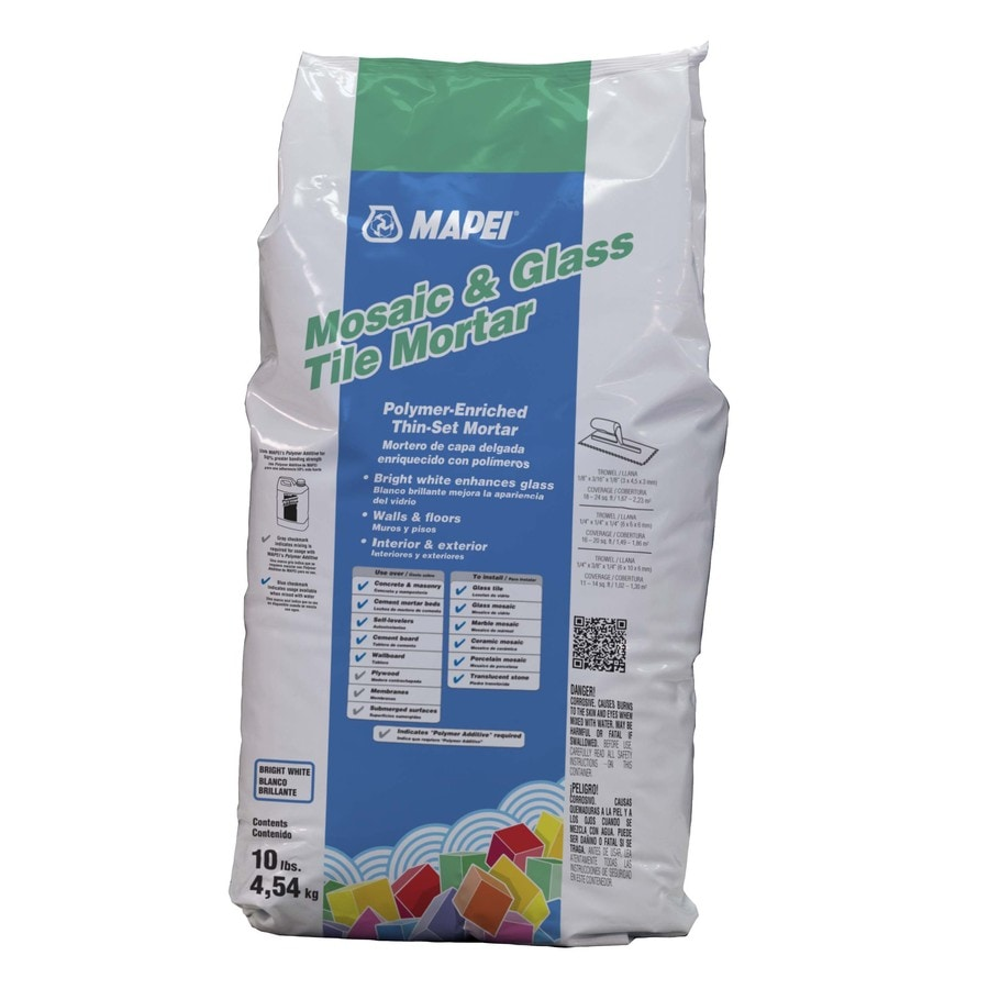 Mapei Mosaic And Glass Tile 10 Lb White Powder Thinset Mortar
