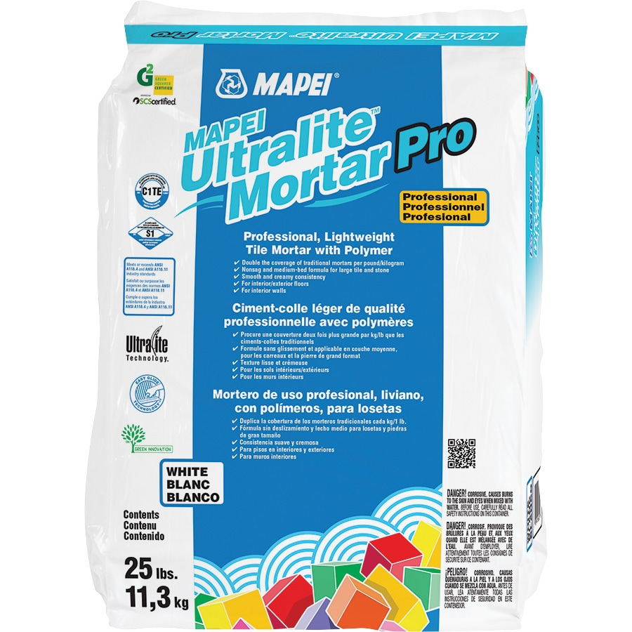 MAPEI Ultralite Pro 25 Pound(S) White Powder Medium Bed