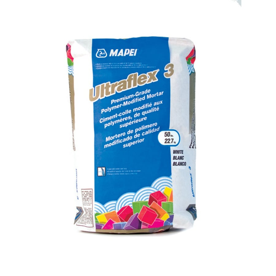 Shop Mapei White Powder Polymer Modified Thinset Mortar At