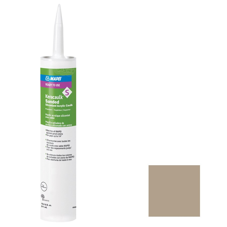 MAPEI Keracaulk S 10.5-oz Navajo Brown Sanded Paintable Specialty Caulk