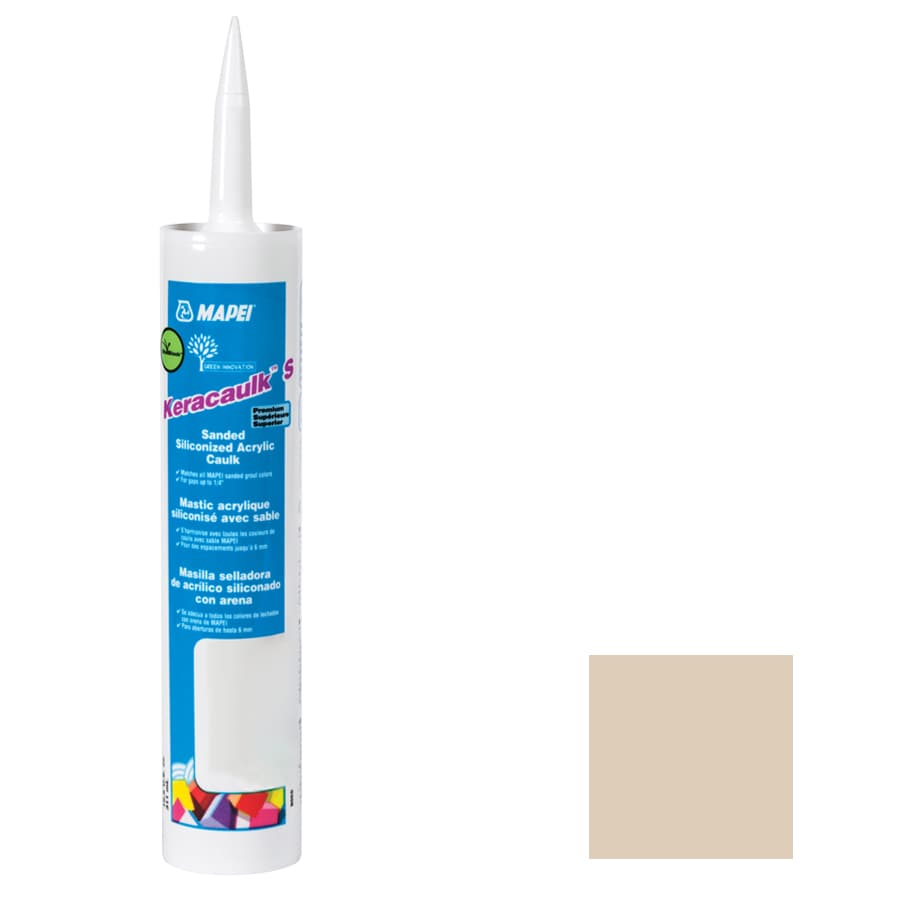 MAPEI Keracaulk S 10.5-oz Light Almond Sanded Paintable Caulk