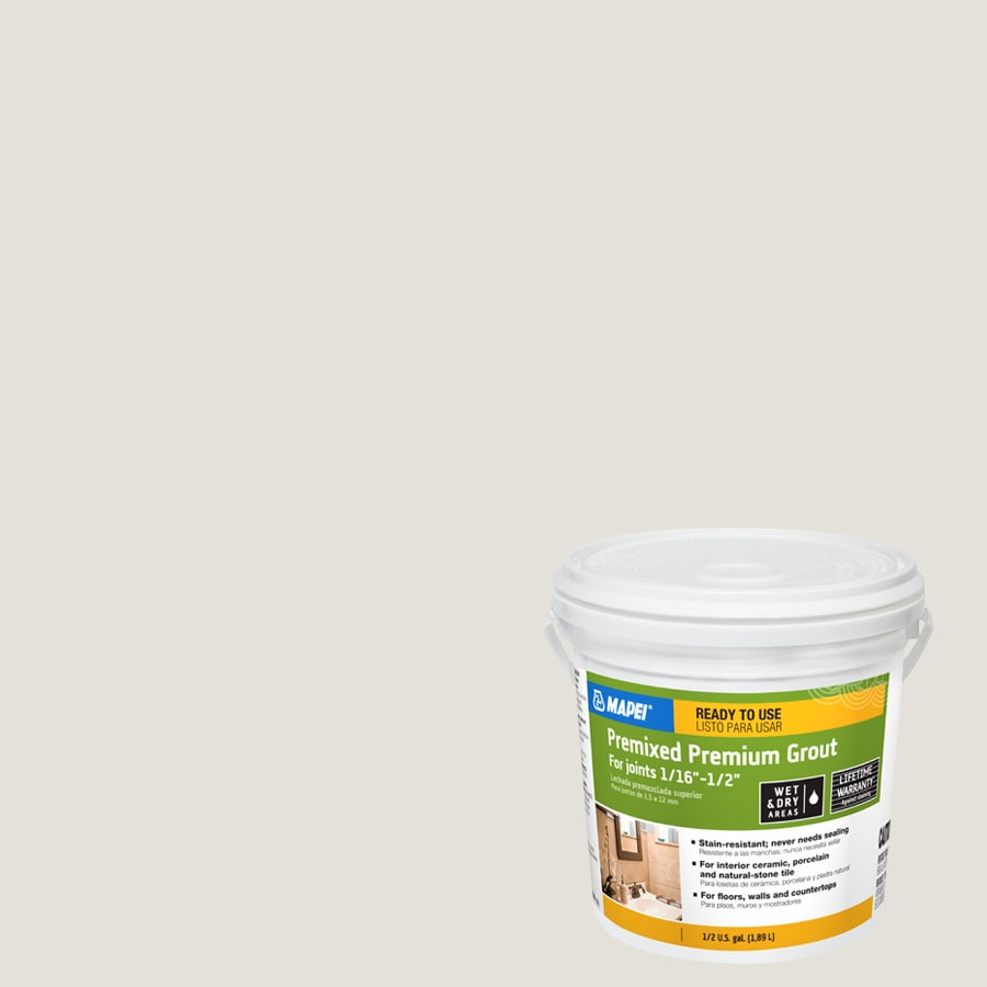 MAPEI 0.5-Gallon White Sanded Premixed Grout