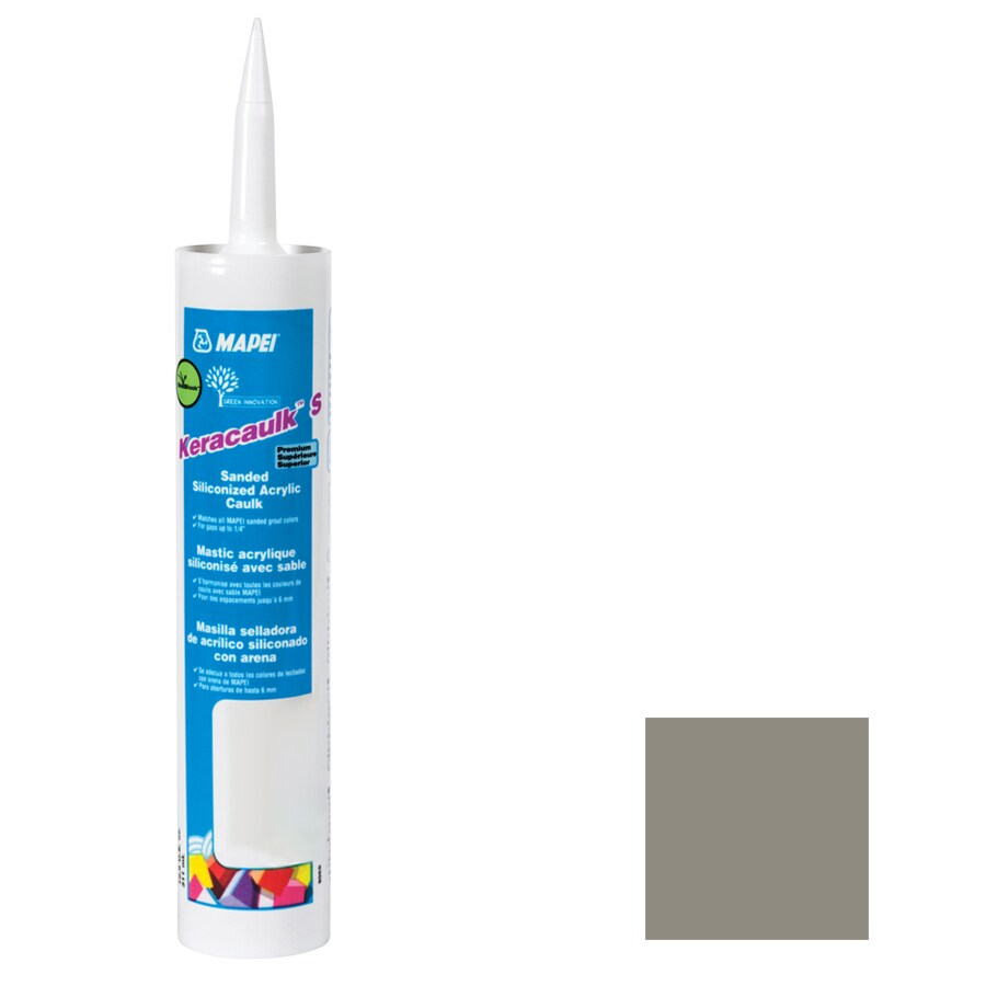 MAPEI Keracaulk S 10.5-oz Pewter Sanded Paintable Caulk